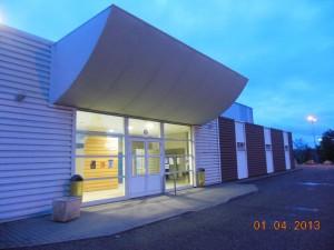 Salle d'entrainement du Club de Badminton de l'Isle Jourdain.