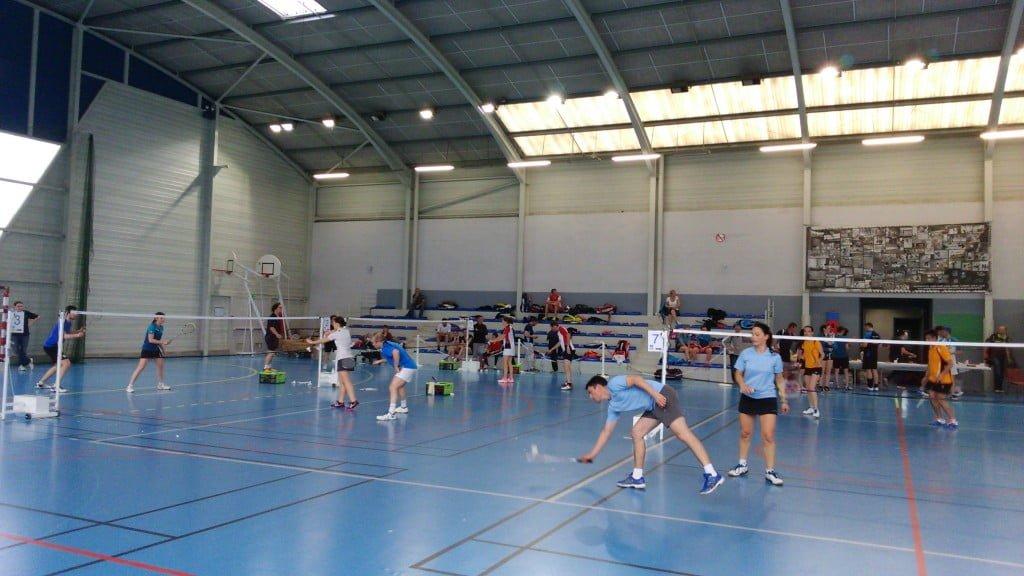 Club de Badminton à l'Isle Jourdain, dans le Gers.
